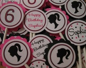 Barbie Inspired Cupcake Toppers