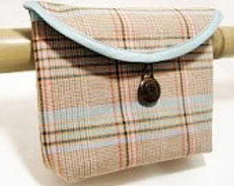 Bicycle Handlebar Bag In A Soft Pastel Plaid