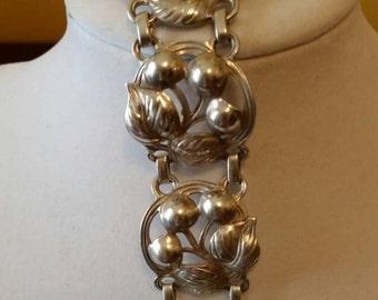Kalo Cherry Blossom Sterling Bracelet