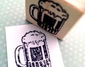 Small Frothy Mug  Mounted Rubber Stamp 612