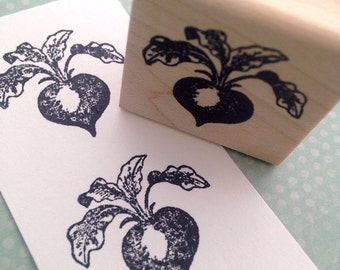 One Beet Wood Mounted Rubber Stamp 5545