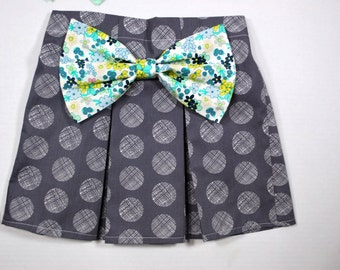 Big Bow Skirt - Floral Bow - Children Sizes