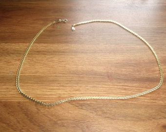vintage necklace goldtone chain