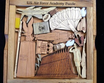 US Air Force Academy Puzzle – USAF challenging & artistic wood brain teaser