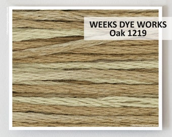 OAK 1219  : Weeks Dye Works WDW hand-dyed embroidery floss cross stitch thread at thecottageneedle.com
