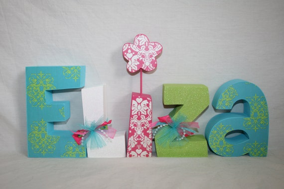 Items similar to nursery name sign wood letters wooden for Where to buy wooden letters for nursery