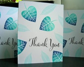 Thank You Notes Set of 5, Ombre Thank You Cards