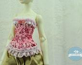 Snow Cherry Blossoms BJD Antique Line Corset for Cerisedolls