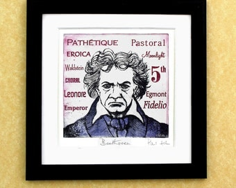 BEETHOVEN - a portrait art print of the great composer