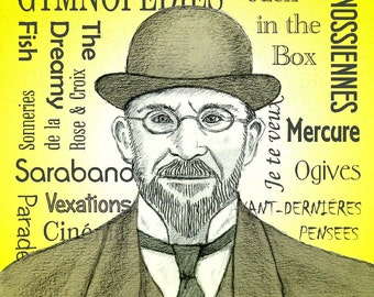 Erik SATIE - a portrait art print of the French composer