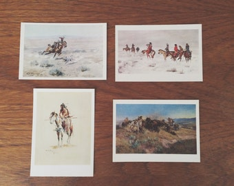 Cowboy & Indian postcards