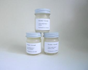 body balm, rich body balm trio, shea butter moisturizer, moisturizer