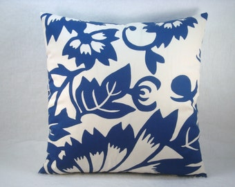 Thomas Paul Blue Decorative Modern Accent Pillow Blue Pillow Duralee Suburban Home 18x18 Pillow Cover