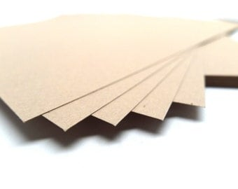 Kraft Cardstock, Kraft Paper, 80 lb Cover Stock, Set of 50