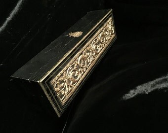Vintage Wood Box with Ornate Antique Ormolu at Gothic Rose Antiques