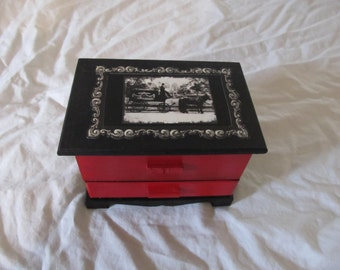 Gothic Victorian Hearse Jewelry Box