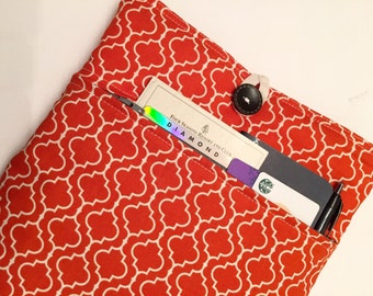 Mac Air 13 inch Case - Tangerine Tiles - Padded with Zippered Front Pocket