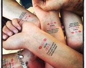 10 Bachelorette Tattoos, Buy Me A Drink & Bride Tattoo - Custom