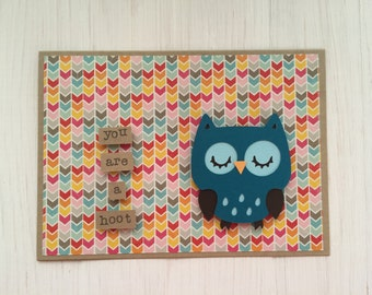 You Are a Hoot Owl Card