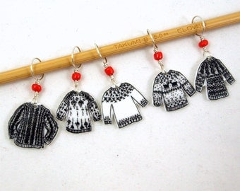 sweater stitch markers, snag free, fun knitting accessory, whimsical gift for knitters