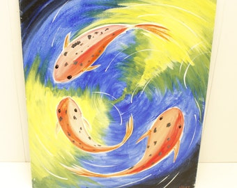 "Original painting ""Koi"" by unknown artist"