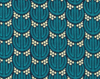 Biology Flora in Navy, Sarah Watson, 100% GOTS-Certified Organic Cotton, Cloud9 Fabrics, 125812