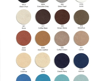 "Ultrasuede Soft Sampler 12""x 9"" - Choose from 40 colors."