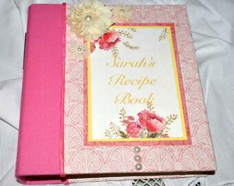 Bridal Shower Recipe Book - Recipe Book - Custom Recipe Book