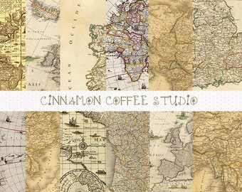 old maps digital papers, vintage maps backgrounds, old maps digital patterns, old maps, vintage maps,