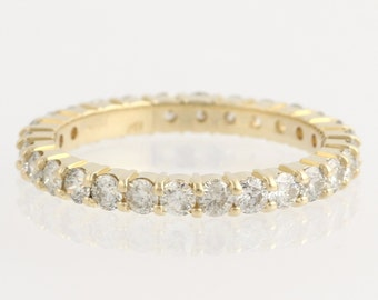 Diamond Eternity Wedding Band - 14k Yellow Gold Sz.10.25 Ring Natural 2.52ctw Unique Engagement Ring L639