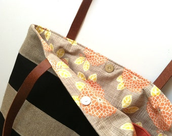Addition of a Print Lining for a Hobo or Tote Bag