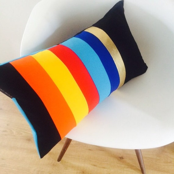 Modern Lumbar Pillows : Modern Colorblock Pillow Cover 14x24 Lumbar