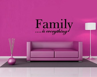Wall Decal quote - Family wall art  - Vinyl Wall Art Quote