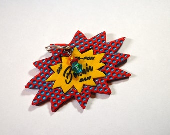 Super Hero / Comic Strip Pet Tag / I.D. Tag