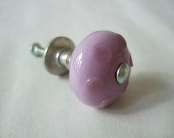 Lavender Polka Dot Knob