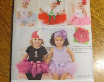 CUTE & Easy DIY Baby Tutu and Appliques - Fancy Fairy Outfit / Adorable Little Dancer - UNCUT Sewing Pattern McCalls 6345