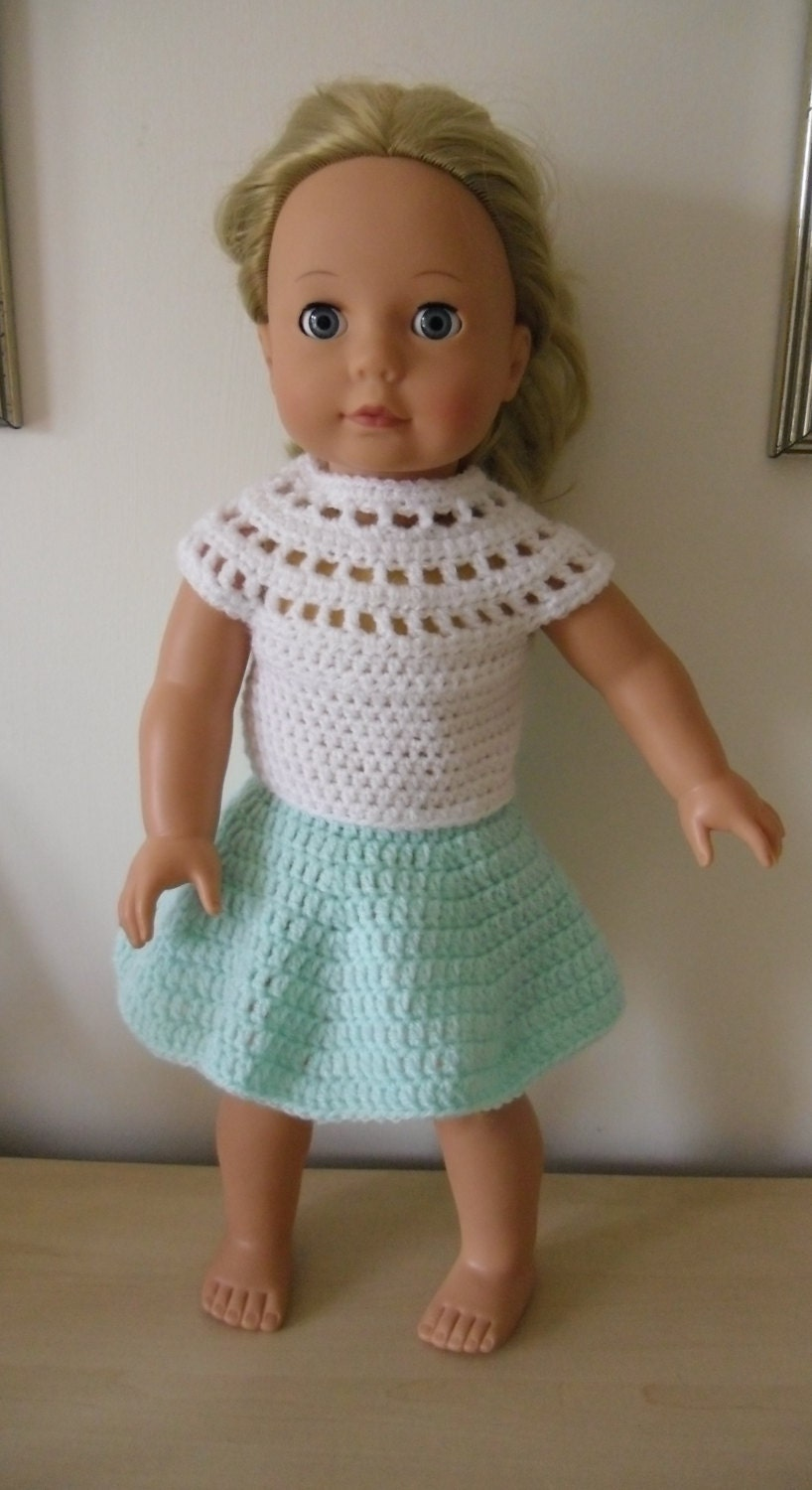 Baby Turtle Amigurumi Pattern : Crochet pattern for skirt and top for 18 inch doll