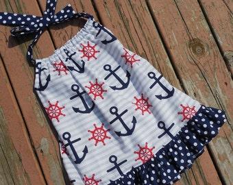 Girl's Infants Toddlers Anchor Halter Dress