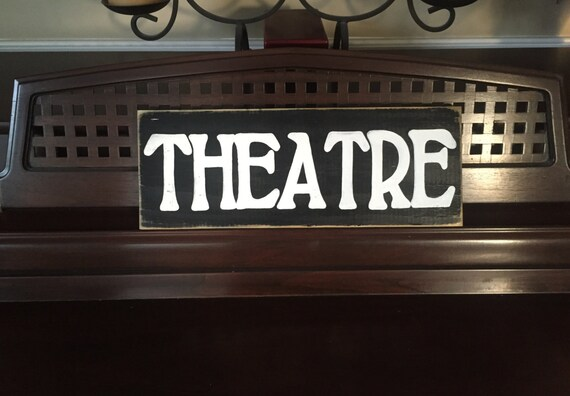 Theatre French Home Theater Decor Room Sign Primitive Paris