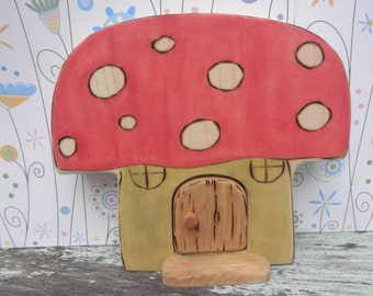 Wood Toy Mushroom Habitat -Magic Portal- Waldorf Inspired
