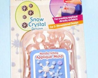 Clover Needle Felting Applique Mold Snowflake Art No. 8925