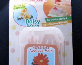Clover Needle Felting Applique Mold Daisy Art No. 8923