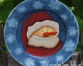 Snowman plate, Decorative plate, Santa , snowman decor, winter decor, country Christmas, prim Christmas, snowman, Christmas decoration