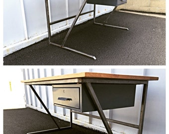 Industrial desk, reclaimed desk. Ready to ship!