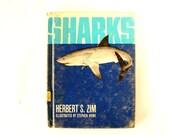 "Vintage ""Sharks"" by Herbert S. Zim (c.1966) - Collectible Shark Book, Shark Week Decor, Shark Ephemera and Oddity"