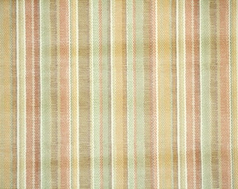 Retro Wallpaper by the Yard 60s Vintage Wallpaper - 1960s Orange Green and Brown Stripes
