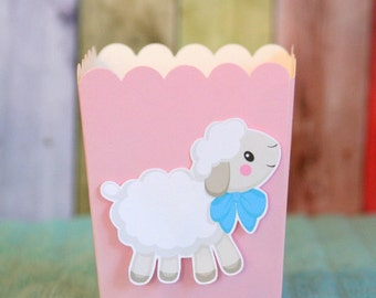 Little Lamb Baby Shower Snack Boxes Favor Boxes Set of 12