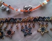 Handmade Vintage Beaded Anklets  Stars + Beads + Shells + Bells    For an Anytime Vacation!  No Beach Required!