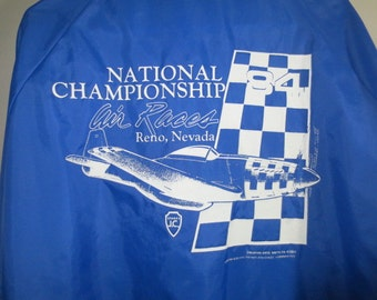 Sale***1984 AIR RACES, Reno // Pla-Jac Nylon Windbreaker // National Championship...XL