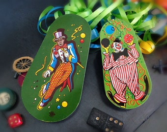 Vintage Litho Tin Noise Makers Party Supplies Set of 2